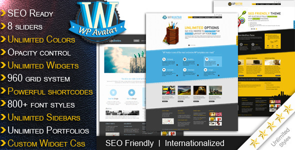 ThemeForest wordpress企业主题 – WP Avatar