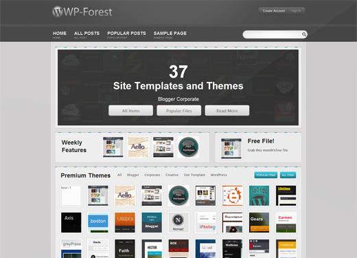 高仿ThemeForest的wordpress主题 - WP-Forest v2.3.3