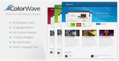 ThemeForest wordpress企业主题 - Colorwave