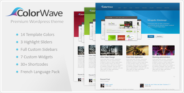 ThemeForest wordpress企业主题 - Colorwave