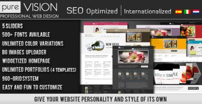 ThemeForest wordpress企业主题 - PureVISION