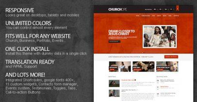 ThemeForest wordpress企业主题 - ChurcHope