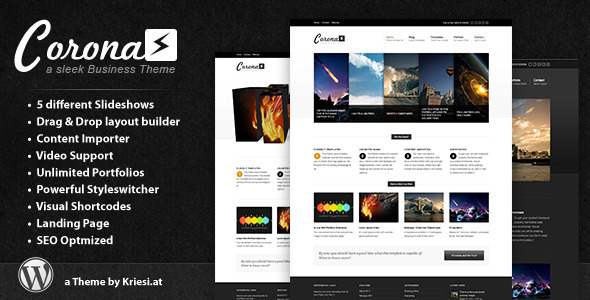 ThemeForest wordpress企业主题 - Corona