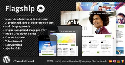 ThemeForest wordpress企业主题 - Flagship