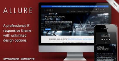 ThemeForest wordpress企业主题 - Allure