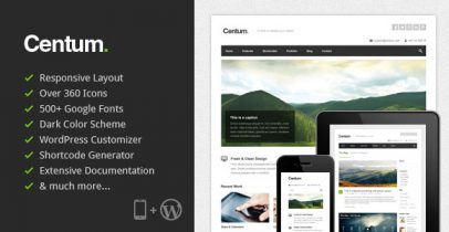 ThemeForest wordpress主题 - Centum