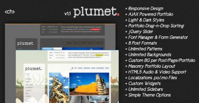 Ajax wordpress图片主题 - Plumet