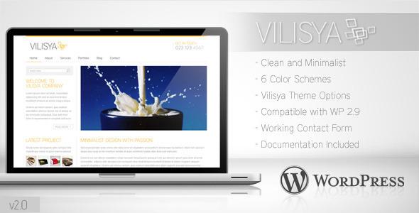 清新简洁WordPress企业主题 - Vilisya