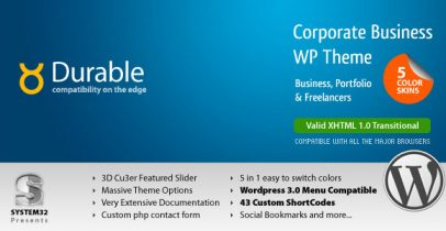 ThemeForest wordpress企业主题 - Durable