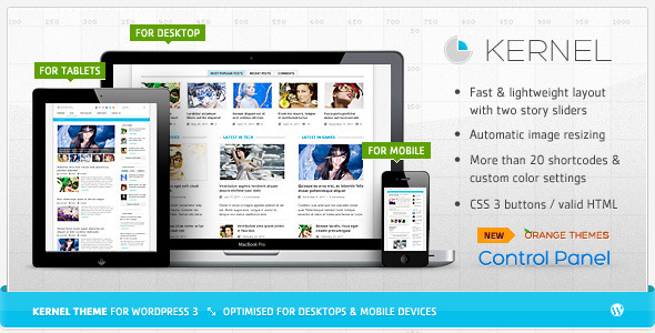 ThemeForest wordpress主题 - Kernel