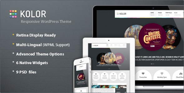 ThemeForest wordpress企业主题 - Kolor