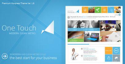 Win8 Metro风格WordPress主题 - One Touch v1.9