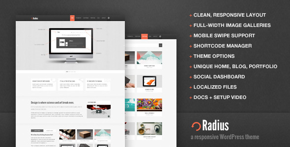 ThemeForest wordpress企业主题 - Radius