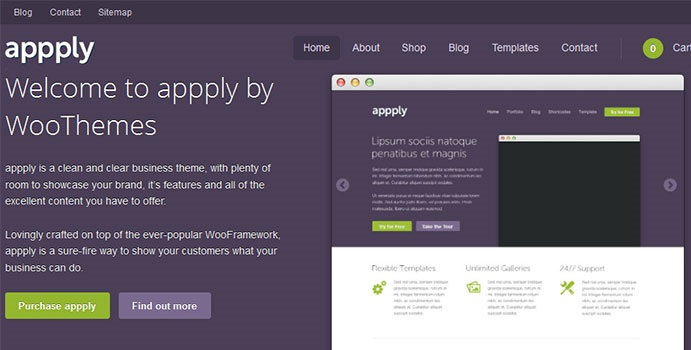 WooThemes wordpress企业主题 - Appply