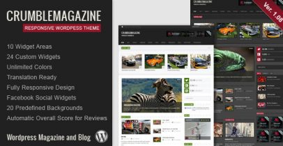 ThemeForest wordpress杂志主题 - Crumble