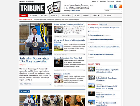 WordPress cms主题 - Tribune