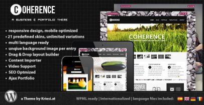 ThemeForest wordpress企业主题 - Coherence