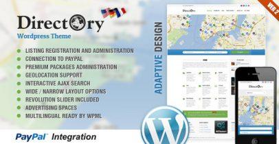 Wordpress分类信息导航主题 - Directory