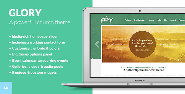 ThemeForest wordpress企业主题 - Glory