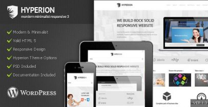 ThemeForest wordpress企业主题 – Hyperion