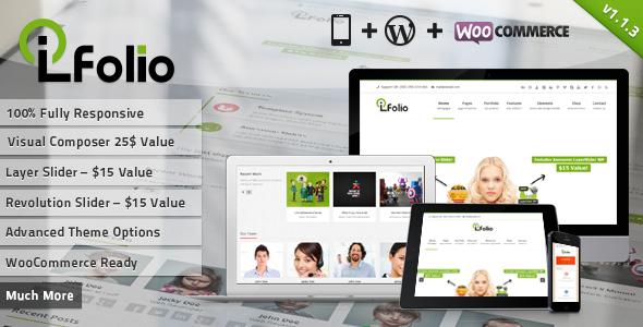 响应式wordpress企业主题 - LioFolio