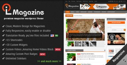 Wordpress cms主题 - LioMagazine