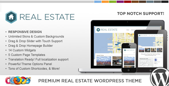 Wordpress房地产主题 - WP Pro Real Estate 3