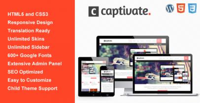 Wordpress响应式布局主题 - Captivate