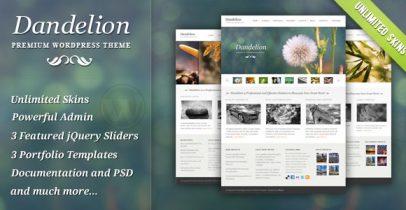 强大优雅的Wordpress企业主题 - Dandelion