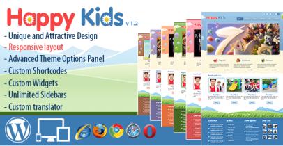 Wordpress儿童网站主题 - Happy Kids