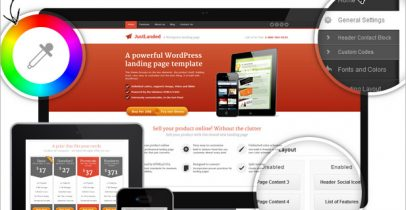 Wordpress企业主题 - JustLanded