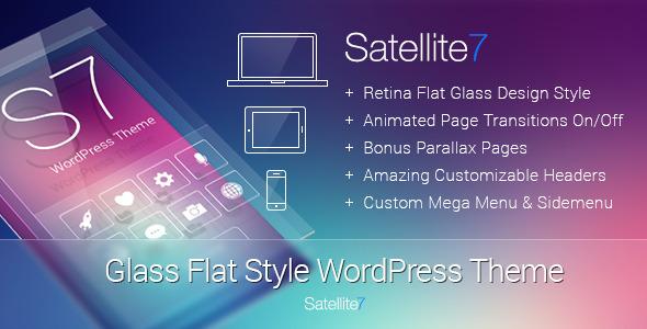 Satellite7 v2.4 Wordpress扁平化风格主题