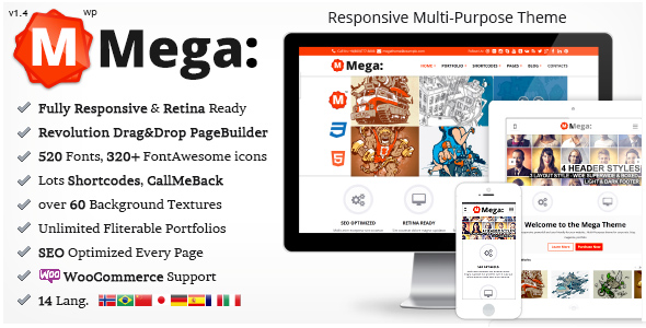 Wordpress企业主题 - Mega(支持中文)