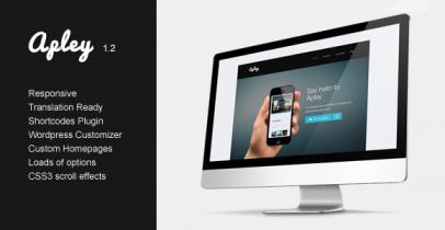 Wordpress移动应用网站主题 -  Apley