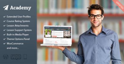 Academy 在线教学/课程出售 WordPress主题[最新v2.5]