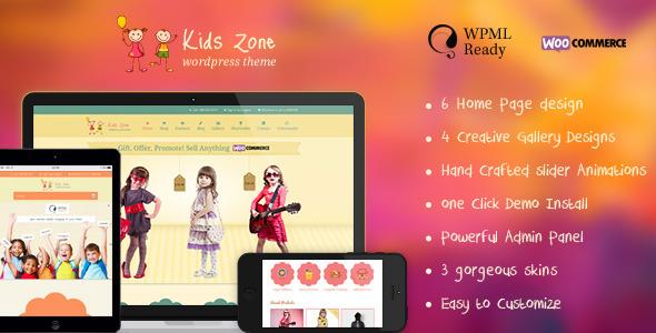 Wordpress儿童产品类主题 - Kids Zone