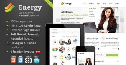Wordpress企业主题 - Energy