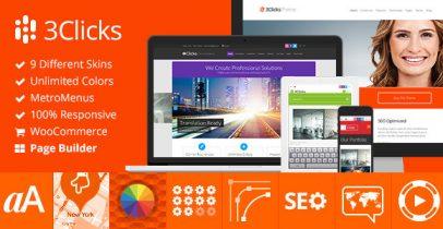 3Clicks Wordpress响应式企业主题