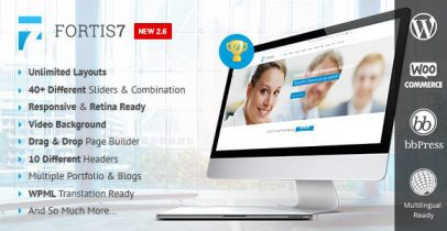 WordPress响应式企业主题 - Fortis7