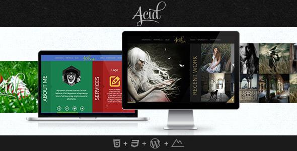 Acid Wordpress图片/博客主题