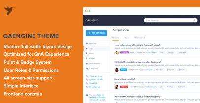 QAEngine v2.0.9 Wordpress问答社区网站主题