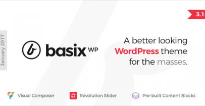 Basix 简洁风格Wordpress企业主题
