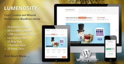 Lumenosity Themeforest WordPress企业主题