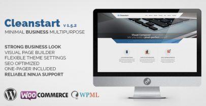 Cleanstart v1.5.2 WordPress企业主题