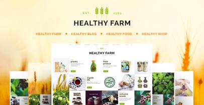 Healthy Farm 健康/食品/农业等行业主题