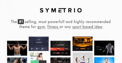 Symetrio 运动健身类Wordpress主题