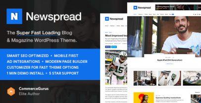 Newspread WordPress博客、杂志、新闻主题