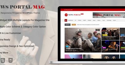 News Portal Mag 免费主题 Wordpress新闻杂志主题