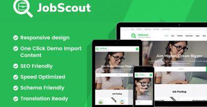 JobScout 免费wordpress求职招聘主题
