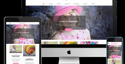 Elegant Pink 免费wordpress图片主题